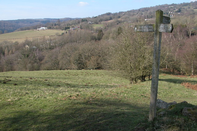 Offa's Dyke Path signpost above Brockweir