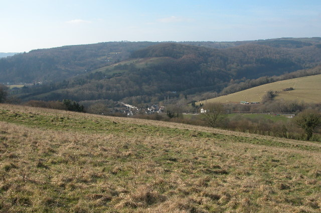 Brockweir viewed from Madgett Hill
