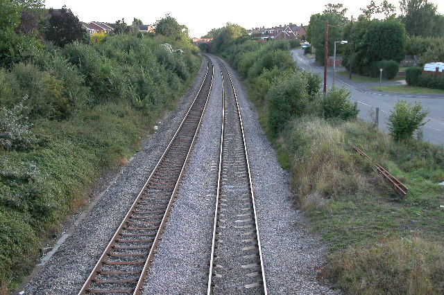 Railway at Fernhill Heath