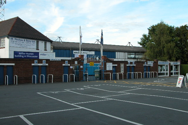 Entrance to Worcester City Football Ground