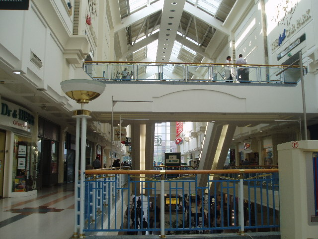 Inside the County Mall shopping centre