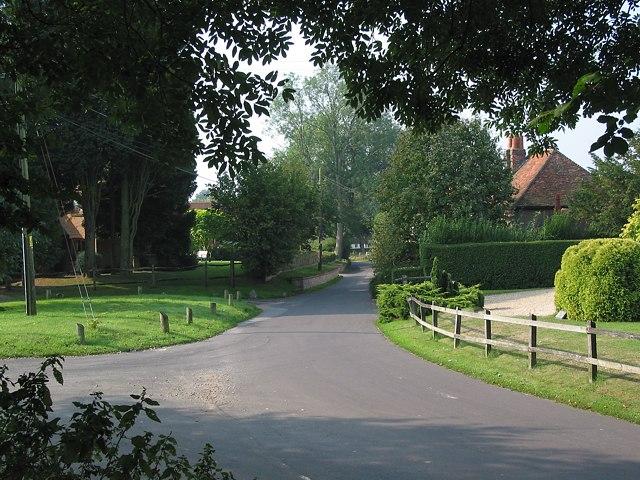 Northern corner of Upham triangle