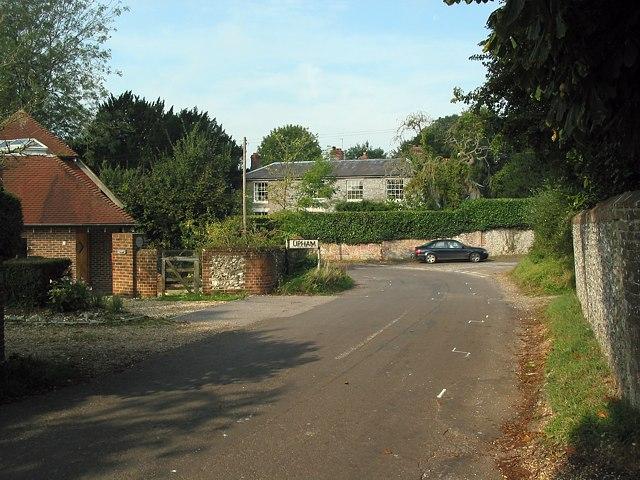 Western corner of Upham triangle
