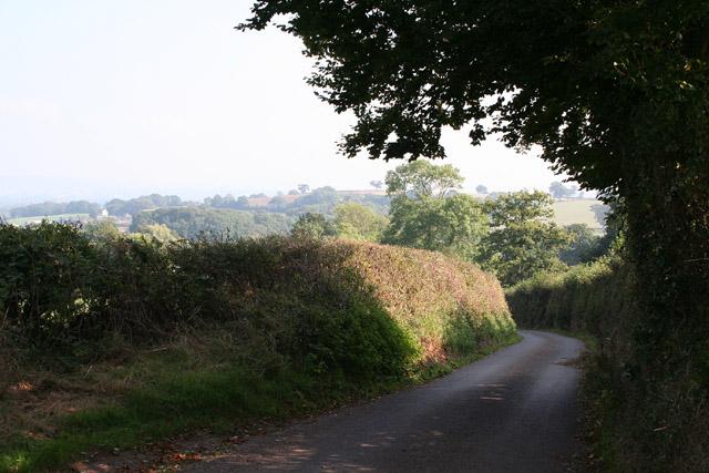 Halberton: lane to Brithem Bottom