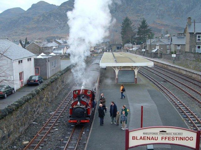 Ffestiniog Railway, Blaenau Ffestiniog Station, Gwynedd