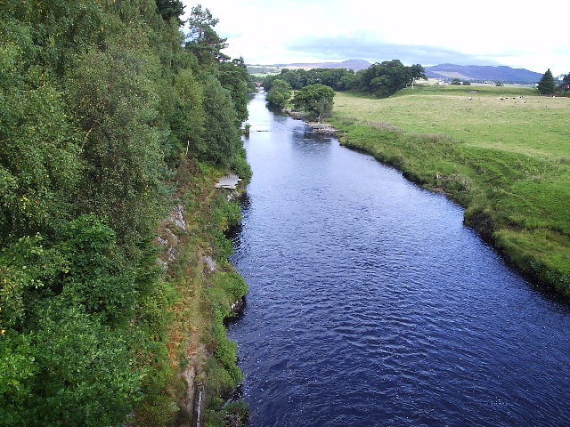 The River Carron road bridge
