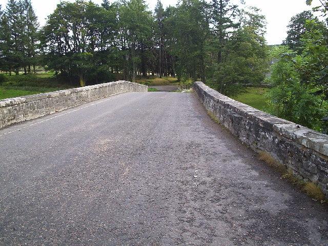 The River Carron road bridge