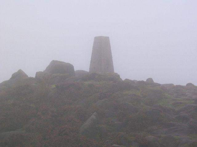 Foggy Trig Point
