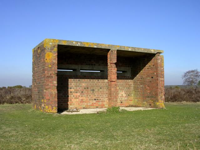 World War II range observation shelter near Amberwood, New Forest