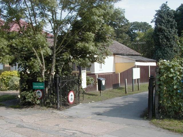 Entrance to Crane Park on Hanworth Road