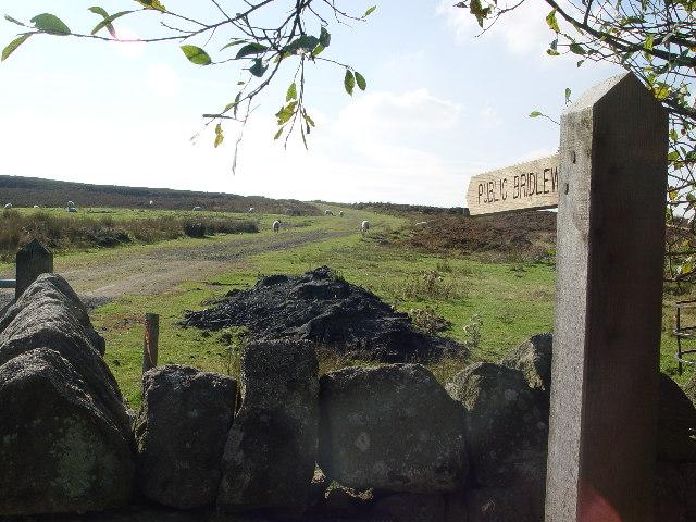 Bridleway onto Hanging Moor