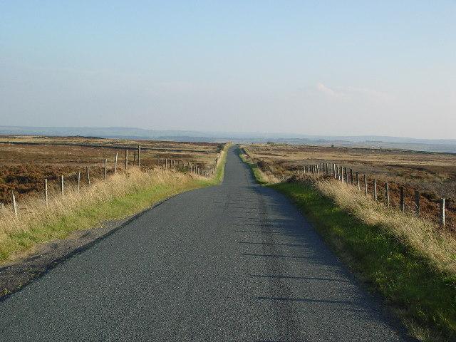 Road over Heyshaw Moor