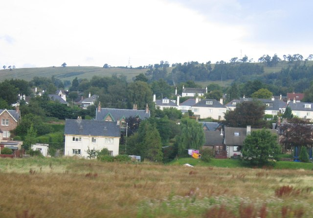 Woodlands Road, Dingwall, from the train