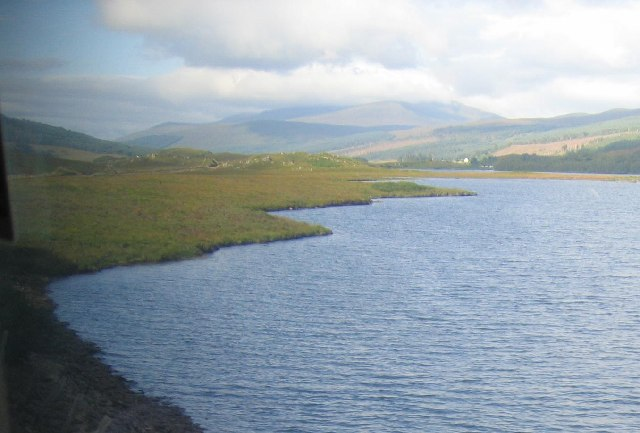 Loch a' Chuilinn, looking west
