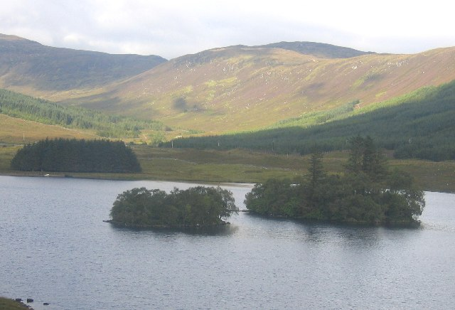 Loch Sgamain, the islands and Beinn na Feusaige