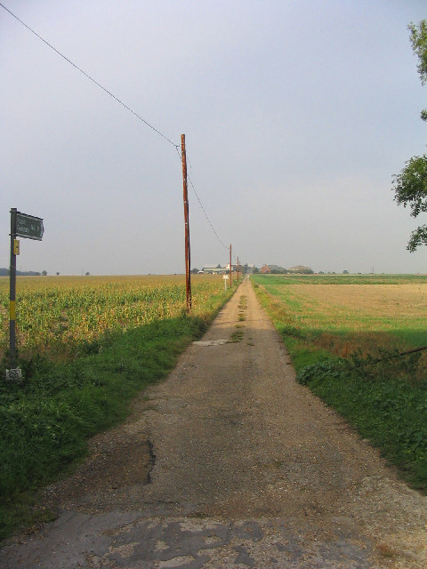 Farm driveway and footpath, Horndon-on-the-Hill