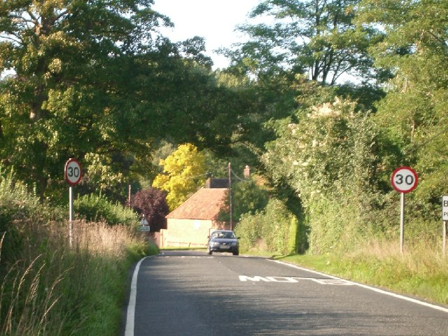 The southern approach to Betchworth