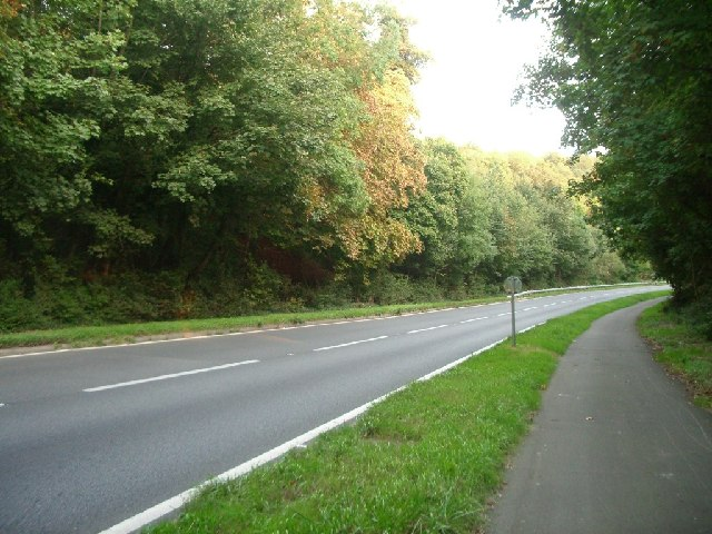 Mickleham bypass (A24): northbound carriageway looking south-east