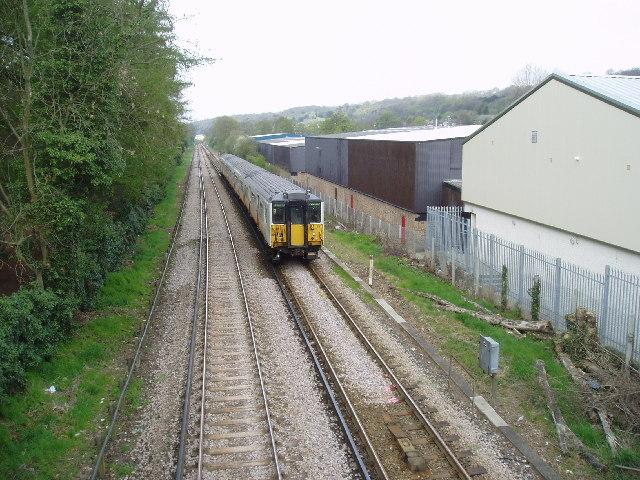 Down train to Caterham