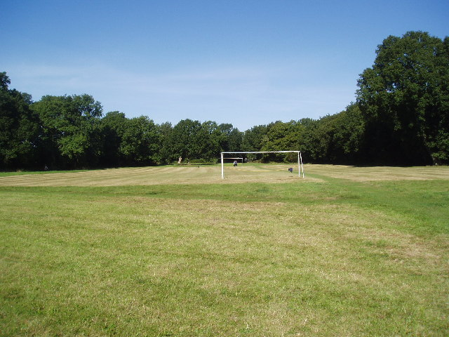 Football pitch, Coulsdon Common, Surrey