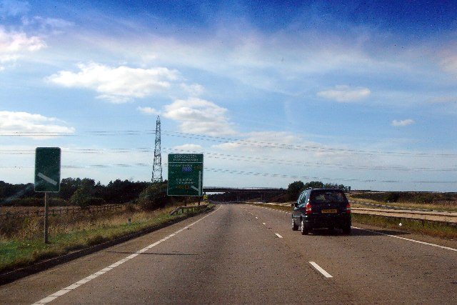 Approaching Brocklesby Interchange