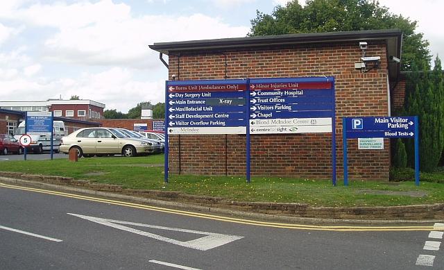 Queen Victoria Hospital - sign