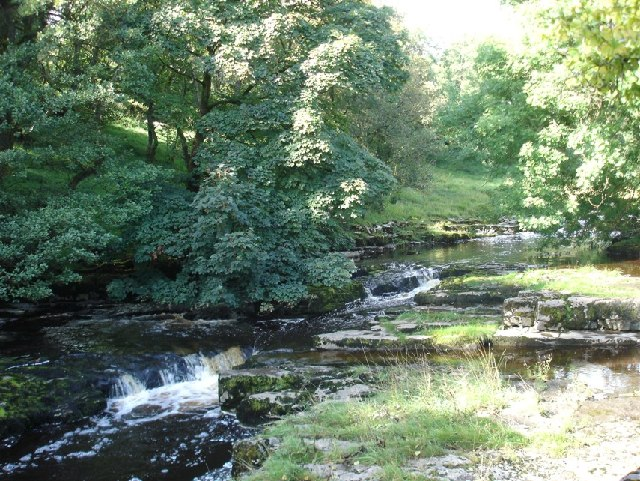 Looking upstream at the River Wharfe, Langstrothdale