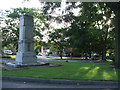 SE2429 : Gildersome Green and War memorial. by Steve Partridge