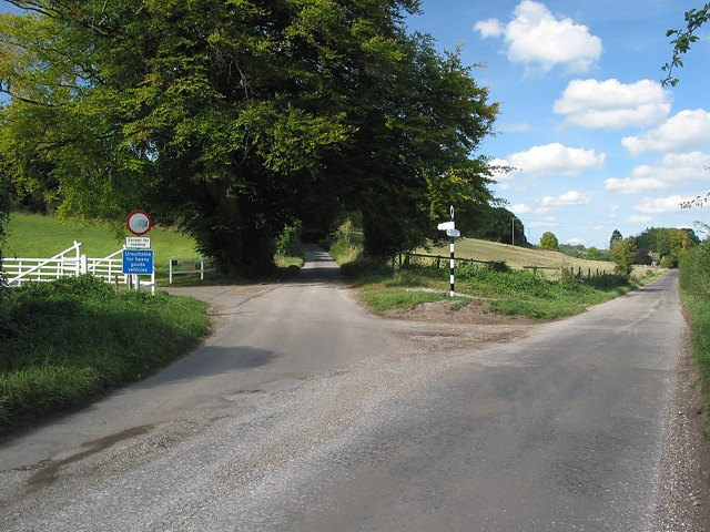 Road junction north of Upham