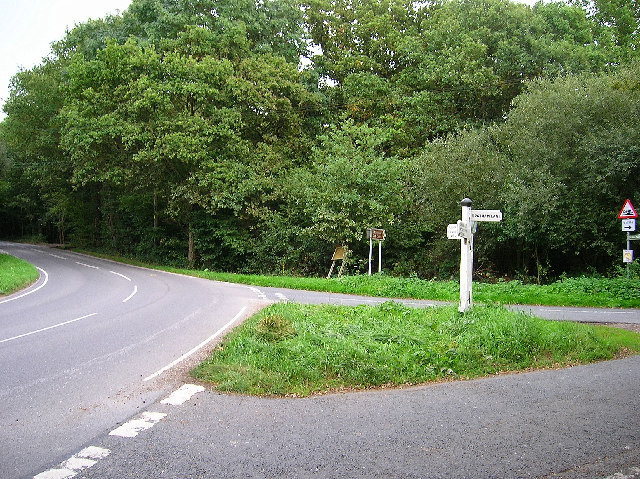 Road junction, Ditchling Common