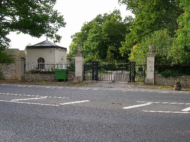 Gatehouse and gates to Clayton Priory