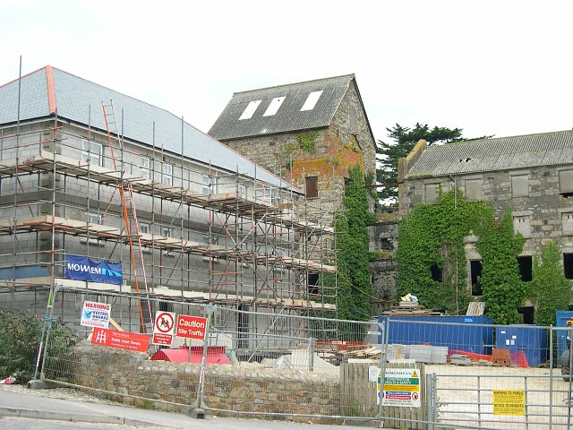 New affordable housing and a derelict Mill