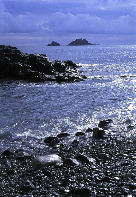 Looking out towards the Brisons From Priests Cove, Cape Cornwall