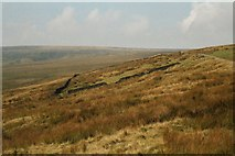 SD8517 : Remains of the 'Moor Cock' Inn, Rooley Moor, Lancashire by Dr Neil Clifton