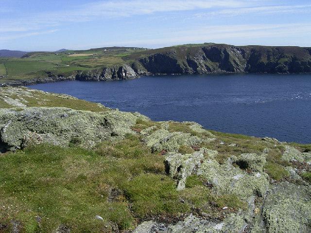 Kione Rouyr headland on the Calf of Man