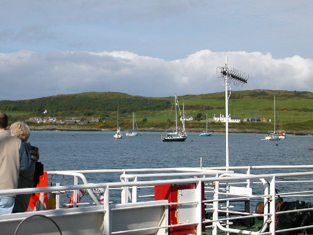 Ardminish Bay taken from Gigha ferry.