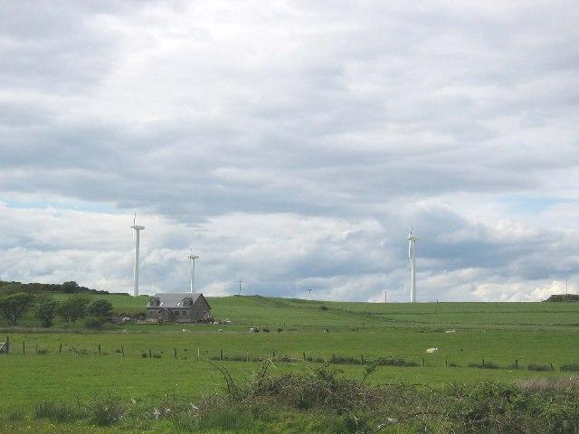 Windfarm on the Isle of Gigha.
