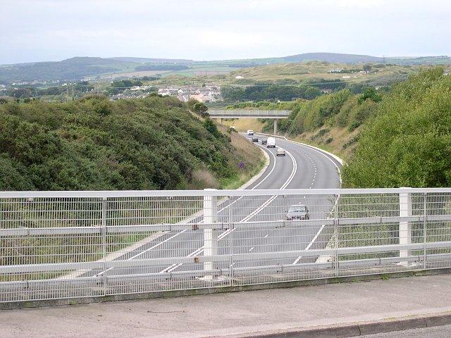 The A30 near Hayle