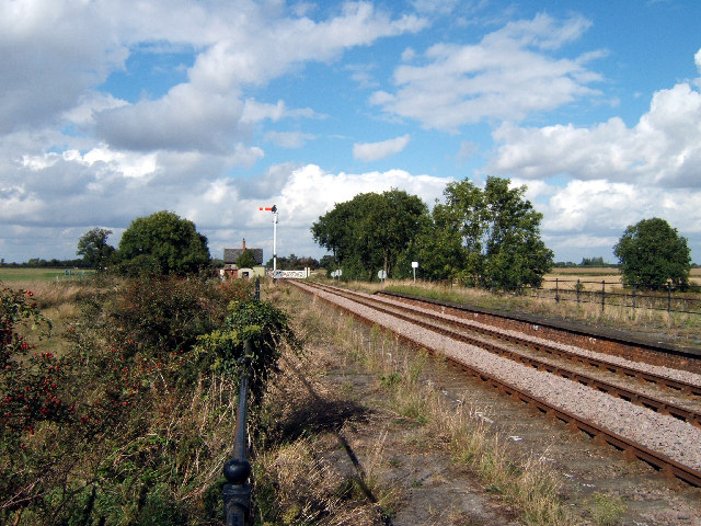 Looking NW from Thornton Abbey Station
