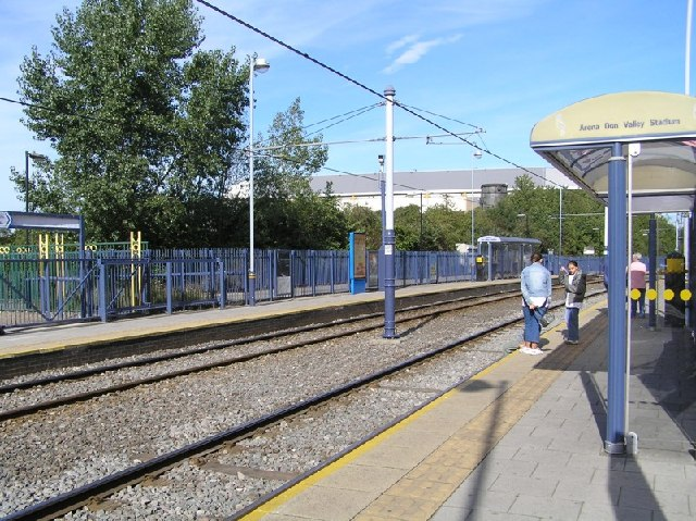Sheffield Arena / Don Valley tram stop