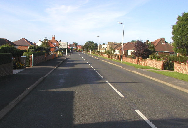 The A1033 at Withernsea