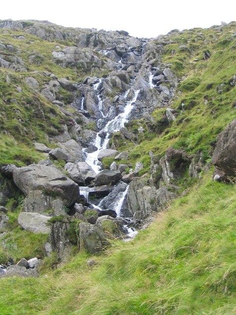 Waterfall on Nant Bochlwyd