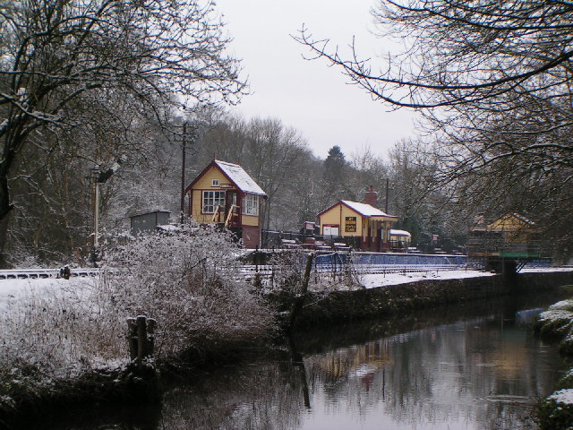 Consall Station in the Snow - 2004