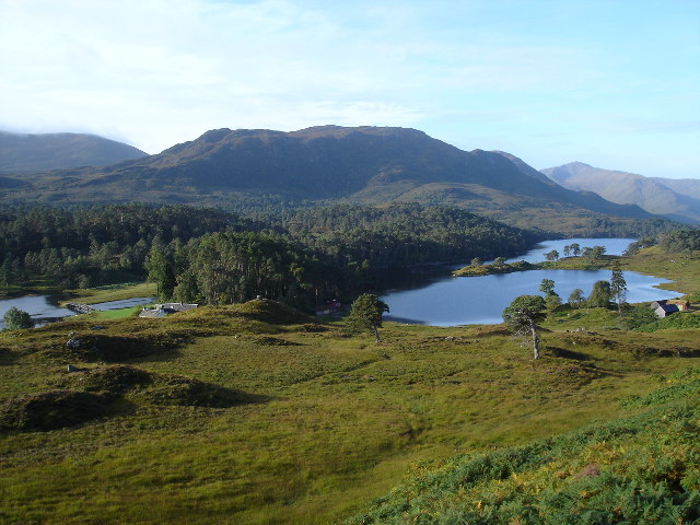 Loch Affric around the lodge