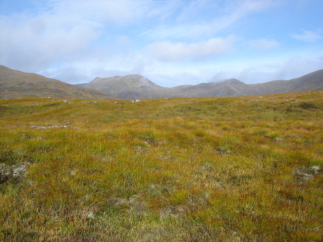 Bog between Sgurr na Lapaich and Am Meallan
