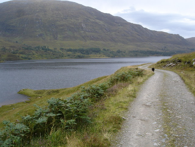 Track along South shore of Loch Affric