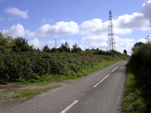 Radio masts on Bulbarrow Hill