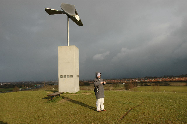 Bird Sculpture above Great Notley Country Park