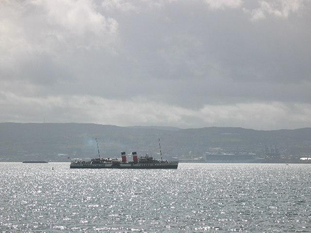 Helensburgh pier looking towards Greenock