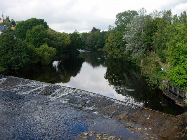 Weir on the River Ericht at Blairgowrie